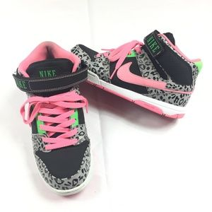 Nike Air Mogan Mid Sneakers Cheetah Print Neon